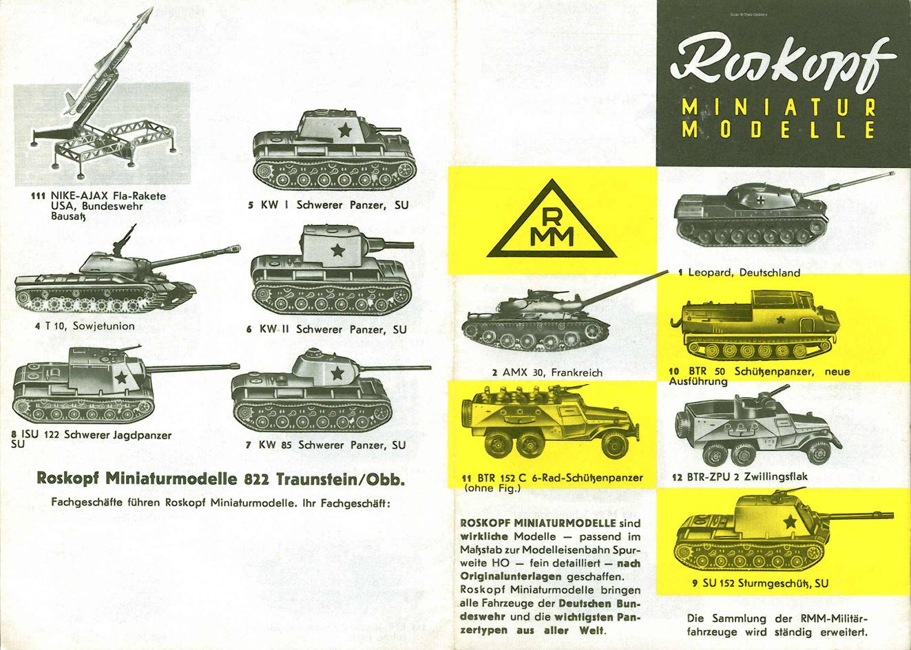 catalogue für KW und SU panzer