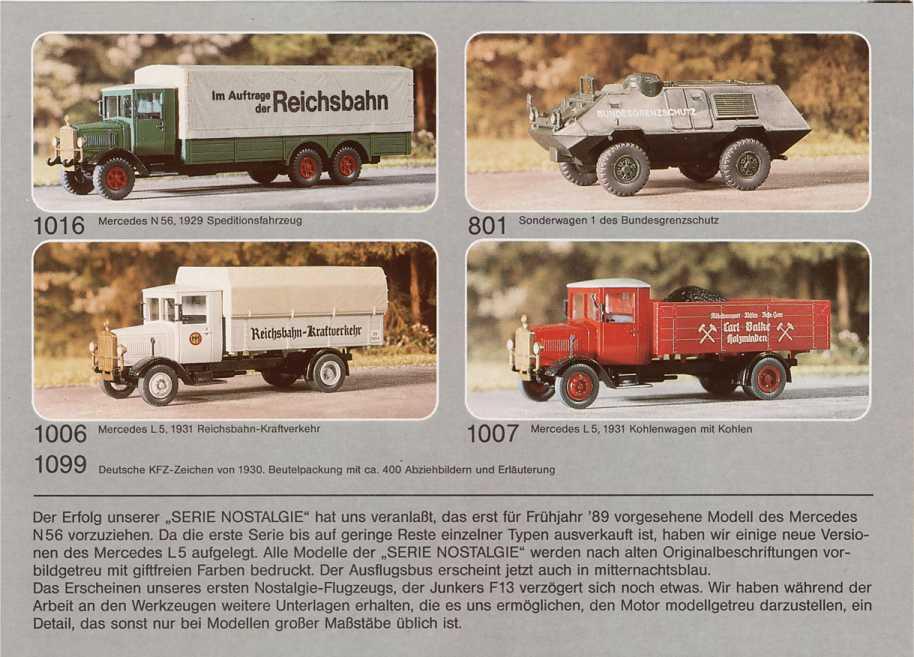 aber... Roskopf Nostalgie 1040 BERLINER MORGENPOST  Mercedes neuw.