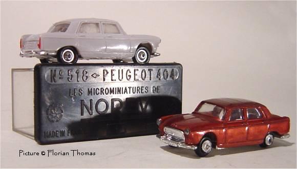 Micro norev oh 1//86 1//87 renault dauphine dark grey metal in box