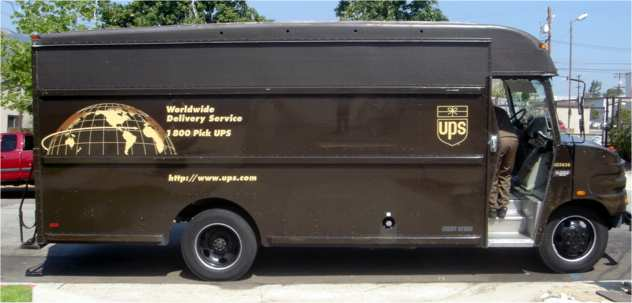 ups van. Black Bedroom Furniture Sets. Home Design Ideas